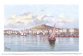 Alte Künstler Postkarte NEAPEL NAPOLI  Castel S. Elmo dal mare, Italien
