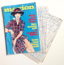 MARION - MODEJOURNAL FÜR SELBSTSCHNEIDERINNEN Vintage Modezeitschrift Nähzeitschrift - Juli 1976