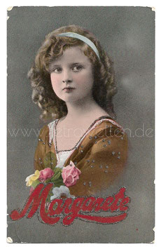 Alte Fotografie Postkarte  MARGARETE - EIN ERNSTES HÜBSCHES MÄDCHEN, 1916
