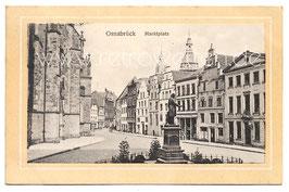 Alte Passepartout-Postkarte OSNABRÜCK Marktplatz - 1912