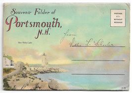 Altes Postkarten Leporello SOUVENIR FOLDER OF PORTSMOUTH - NEW HAMPSHIRE,  USA  1920er Jahre