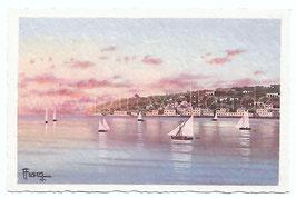 Alte Künstler Postkarte NEAPEL NAPOLI Posillipo, Italien