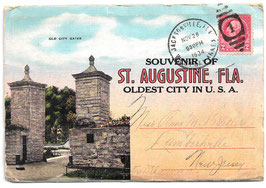 Altes Postkarten Leporello  SOUVENIR OF ST. AUGUSTINE, OLDEST CITY IN U.S.A.- FLORIDA 1934