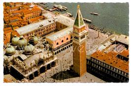 Alte Foto Postkarte VENEDIG VENEZIA  Piazza San Marco - Panorama vom Flugzeug aus  um 1950