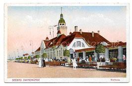 Alte Postkarte SEEBAD SWINEMÜNDE Kurhaus um 1910