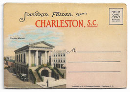 Altes Postkarten Leporello SOUVENIR FOLDER OF CHARLESTON - SOUTH CAROLINA, USA 1920er Jahre