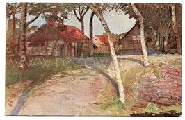 """Alte Künstler Postkarte WORPSWEDE  """"Bauernhof """" von Otto Modersohn"""