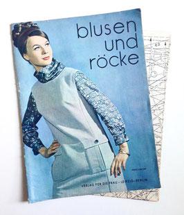 BLUSEN UND RÖCKE Vintage Nähzeitschrift Modezeitschrift Modemagazin mit Schnittmusterbögen - 1960er Jahre