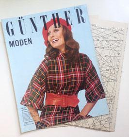 GÜNTHER MODEN Vintage Modezeitschrift Modemagazin Nähzeitschrift - Oktober 1972