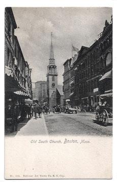 "Alte Postkarte BOSTON Kirche ""Old South Church"" um 1910"