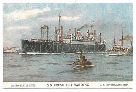 Alte Künstler Postkarte Passagierschiff S.S. PRESIDENT HARDING United States Lines, signiert Willy Stoewer