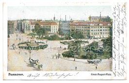 Alte Postkarte HANNOVER Ernst-August-Platz - 1903