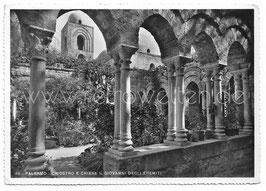 Alte Foto Postkarte PALERMO Chiostro e Chiesa S. Giovanni degli Eremiti - 1957