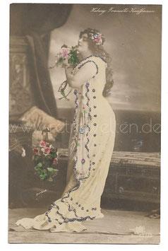 Alte Foto Postkarte DIE OPERNSÄNGERIN HEDWIG FRANCILLO-KAUFFMANN, 1908