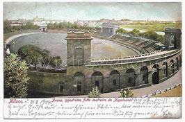 Alte Foto Postkarte MILANO - ARENA Sportstadion, Italien 1904