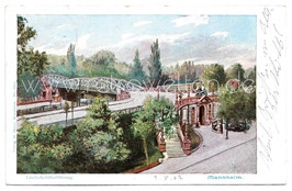 Alte Postkarte MANNHEIM Lindenhofüberführung 1902