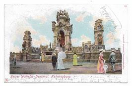 Alte Postkarte DORTMUND - HOHENSYBURG Kaiser Wilhelm Denkmal  1904