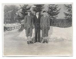 Alte Fotografie 3 SCHLITTSCHUHLÄUFER IN DEN 20er JAHREN