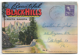 Altes Postkarten Leporello BEAUTIFUL BLACKHILLS - SOUTH DAKOTA, USA 1952