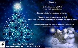 Bon cadeau Noël pour 1 shooting portrait ou duo 10 Photos en extérieur ou en studio