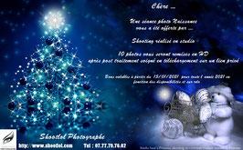 Bon cadeau Noël pour 1 shooting Naissance 10 photos en studio