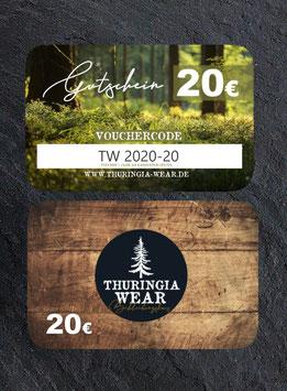 20 € Gift Card Geschenkgutschein