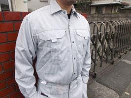 寅壱7160長袖シャツ(ポリエステル90%・綿10%)