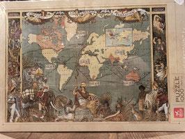 Puzzle 1000 Map Vintage