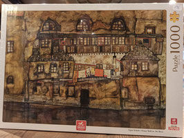 Puzzle 1000 Egon Shiele - House Wall on the River