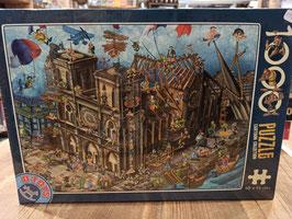 Puzzle 1000 Notre-Dame Cartoon