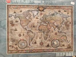 Puzzle 1000 Pièces Retro World