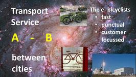 e-bike INTERcity: Transportdienstleistung: Standard-Abholung und Lieferung E-Bike zwischen den Städten