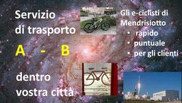 IN CITTA':  Trasporto: Servizio di ritiro e consegna con bicicletta elettrica
