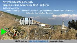 AVVENTURA Monte Generoso, andate con la Ferrovia a cremagliera sul Monte Generoso oppure salite direttamente da Somazzo (2 biciclette elettriche, con guida turistica, 8 ore)