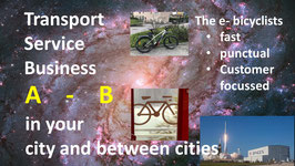 e-bike INTERcity: BUSINESS transport services:  standard pick up and delivery with e-bike between cities