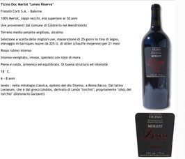 Ticino Merlot Leneo Riserva