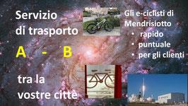 e-bike TRA LE CITTA': Servizi di trasporto: Ritiro e consegna con e-bike tra le città