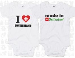"""Baby-Body Set """"Switzerland"""", kurzarm"""