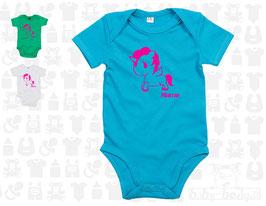 """Baby-Body """"personalisiert - Einhorn"""", kurzarm"""