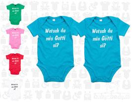 """Baby-Body Set """"Wetsch du mis Gotti / min Götti si?"""", kurzarm"""