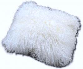 tibetanisches Schaf-Fellkissen ,weiss