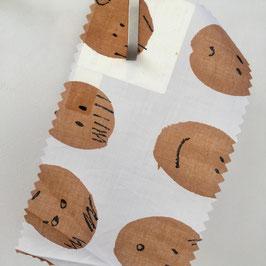 my baby*Baumwolle weiss mit Kinder GesichternStoff Meterware Nya Nordiska