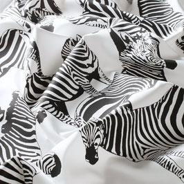 """""""stoffdesigns""""wildeWELT!  MILO**extravaganter Satin Zebradruck,schwarz/weiss!JAB 1-8794-090"""