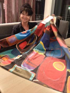 PAINT BOX *Meterware Deko Polster Velvet Stoff upholstery retro Pop Art Carlucci