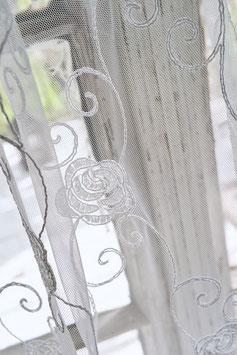 simple curtains*MAIRA*Fertig-Schal 2,50 Meter- 2,70M. zarte Spitze gesäumt/für Klips&Klammer