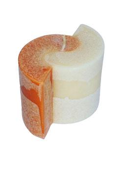 PARTNERSCHAFTSKERZE orange