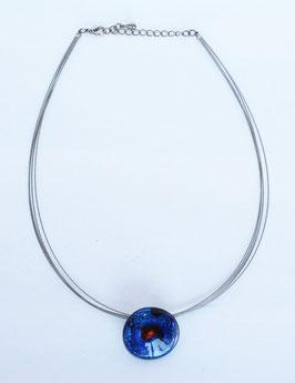 "UNIKAT Halskette ""AQUA BLUE"""