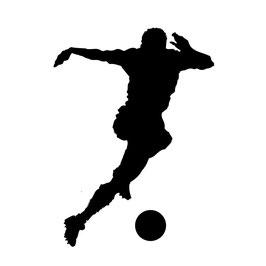 Bügelbild Fußballer 2