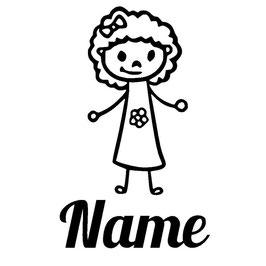 Strichmännchen oder Strichmädchen + Name individuell zusammenstellbar