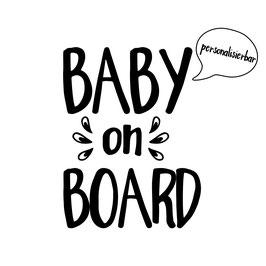 Baby on Board (individueller Name möglich)